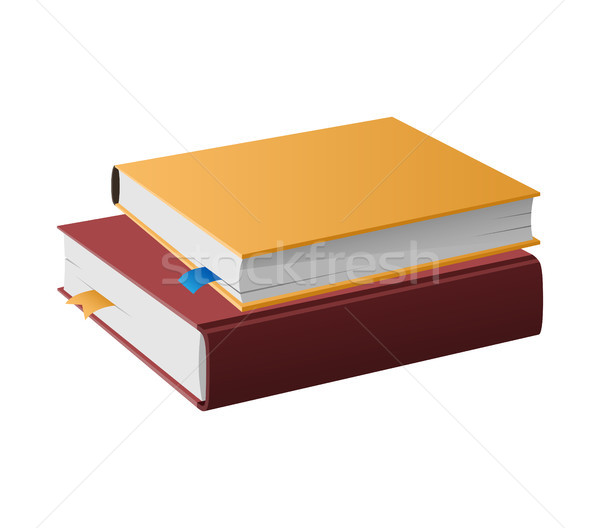 Two Books in Hardcovers Lie One on Another Vector Stock photo © robuart