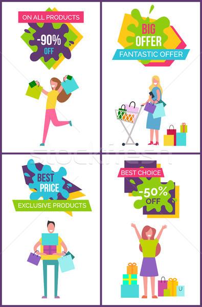 Alle producten af groot fantastisch bieden Stockfoto © robuart