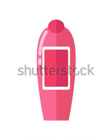 Fényes rózsaszín műanyag üveg aromás zuhany Stock fotó © robuart