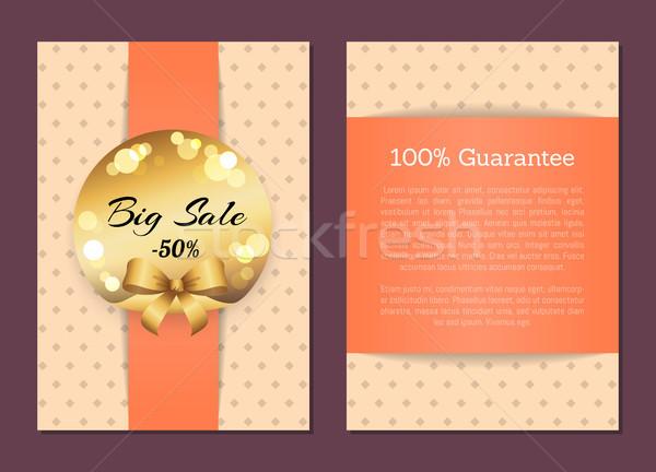100 гарантировать продажи охватывать назад Сток-фото © robuart
