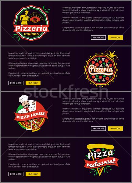 Pizzacı web ayarlamak pizza ev Stok fotoğraf © robuart
