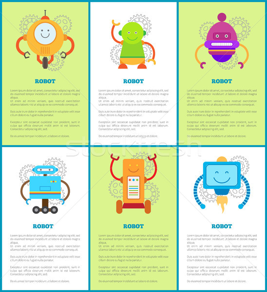 Robot Machines Collection, Vector Illustrations Stock photo © robuart