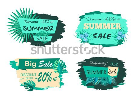 Discount 45 Off Summer Sale Advertisement Label Stock photo © robuart