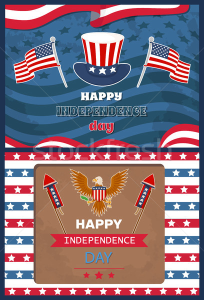 Happy Independence Day Set Vector Illustration Stock photo © robuart