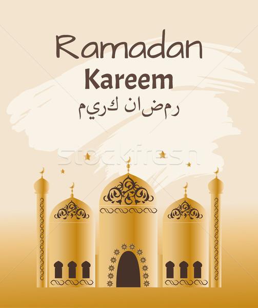 рамадан мечети плакат заголовок арабский празднества Сток-фото © robuart