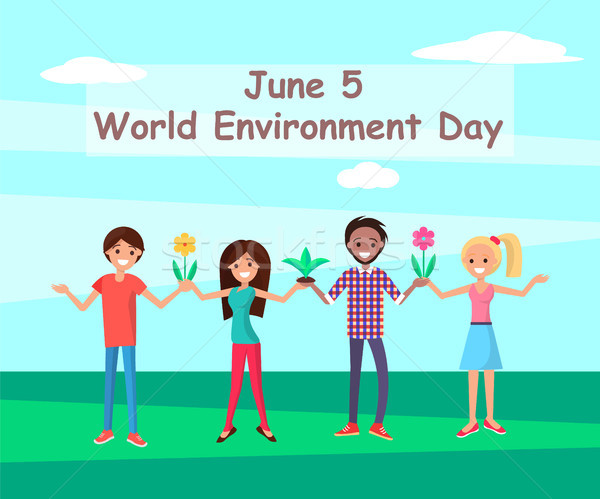 June 5 World Environment Day Connecting People Stock photo © robuart