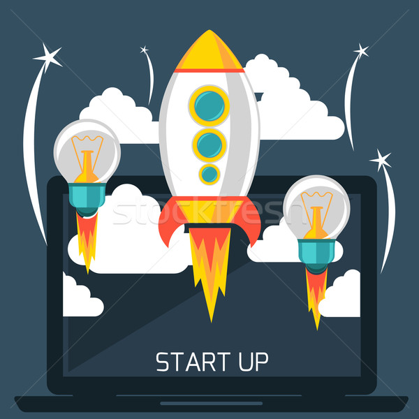 Start up rocket Stock photo © robuart