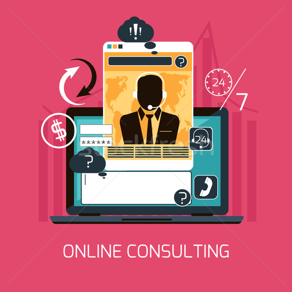 Customer online consulting service concept Stock photo © robuart