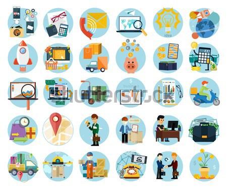 учета торговых Время-деньги дизайна современных Сток-фото © robuart