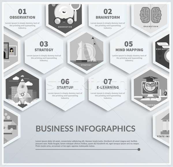 Infographic of headwork, strategy, start up Stock photo © robuart