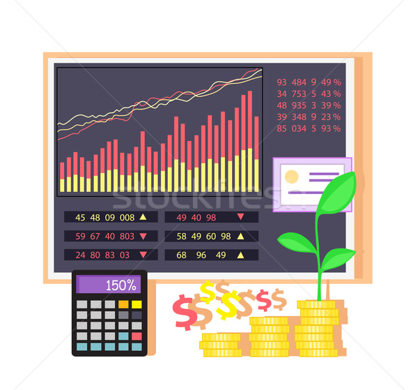 Invest in Shares Concept Icon Flat Design Stock photo © robuart