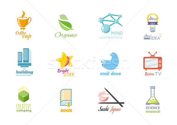 Photo stock: Conception · de · logo · icône · isolé · mail · colombe