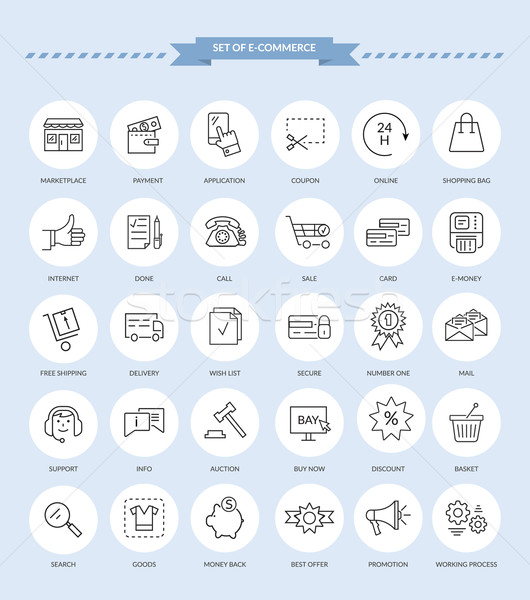 Set of E-commerce Icons Stock photo © robuart