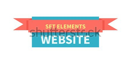 Placa cinta sitio web elemento aislado web Foto stock © robuart