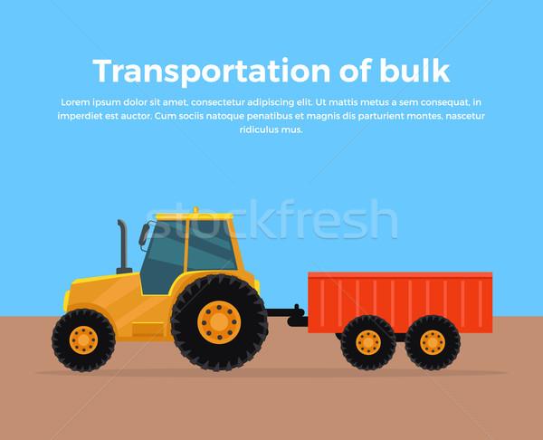 Transportation of Bulk Banner Design Stock photo © robuart