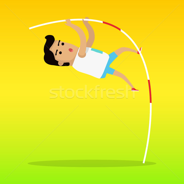 Summer Games Colorful Banner. Pole Vault Sport Stock photo © robuart