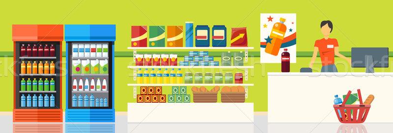 Supermarket Interior Design Stock photo © robuart