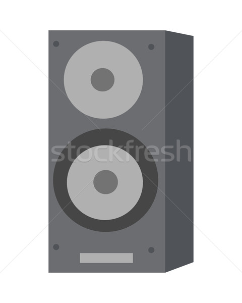 Musical Loud Speaker Isolated. Acoustic Amplifier. Stock photo © robuart