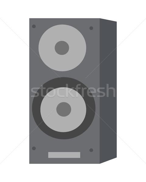 Musical luid spreker geïsoleerd akoestisch witte Stockfoto © robuart