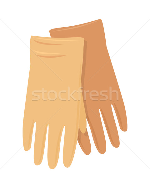 Leather Gloves Vector Illustration in Flat Design Stock photo © robuart