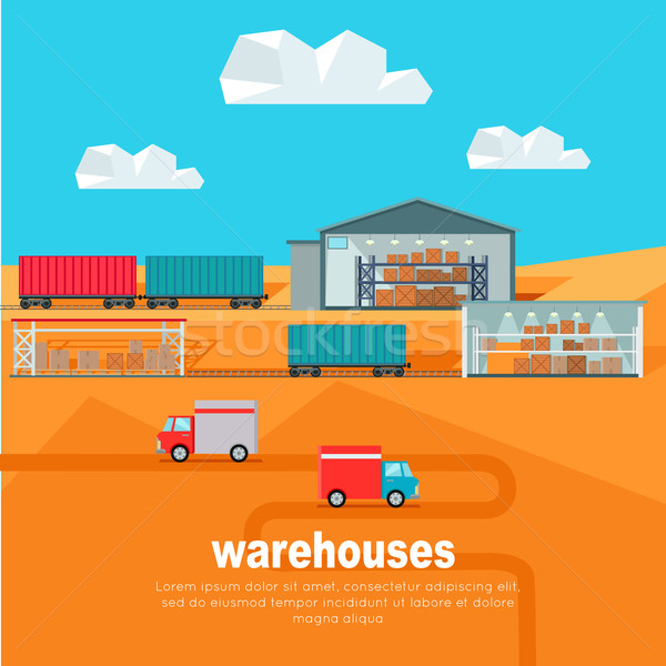 Warehouses in the Dessert. Storehouse Worldwide Stock photo © robuart