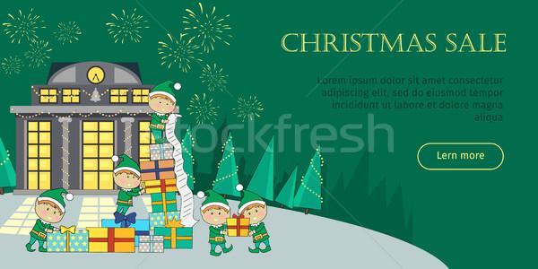 Stok fotoğraf: Noel · satış · web · afiş · hediyeler