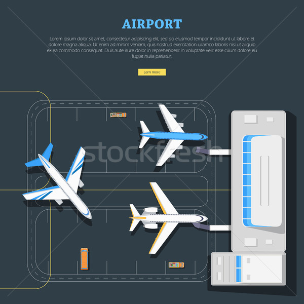 Airport. Aircraft Location. Marking. Emplanement Stock photo © robuart