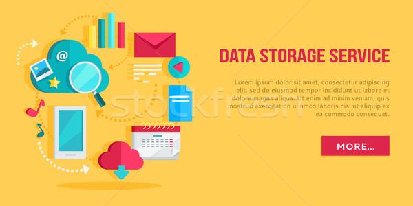 Gegevensopslag dienst banner netwerken communicatie gegevens Stockfoto © robuart