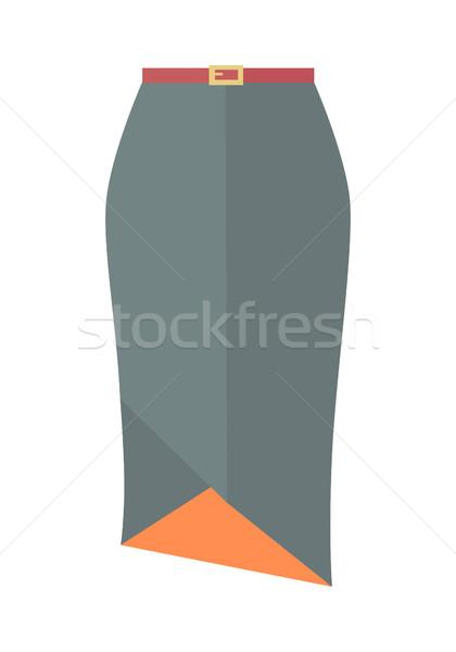 Gri kalem etek kemer vektör simgesi ikon Stok fotoğraf © robuart
