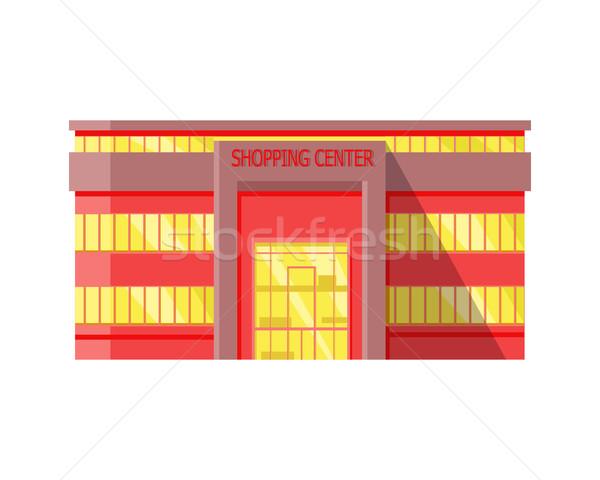 Einkaufszentrum Web Vorlage Design Seite Stock foto © robuart