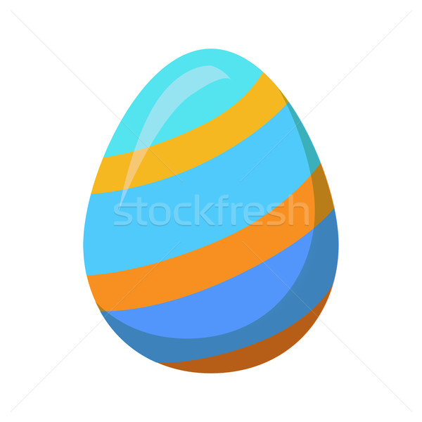 Easter Egg with Golden Stripes or Lines Vector Stock photo © robuart