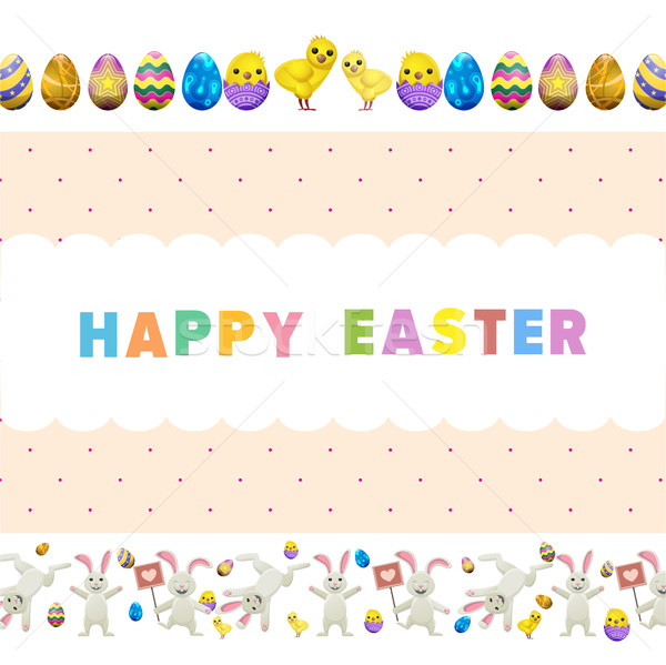 Happy Easter Vector Flyer or Concept Stock photo © robuart