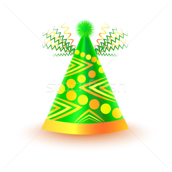 Bright Festive Cap with Circles and Triangles Stock photo © robuart