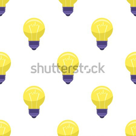 Yellow Bulb Isolated on White Presenting Idea Stock photo © robuart