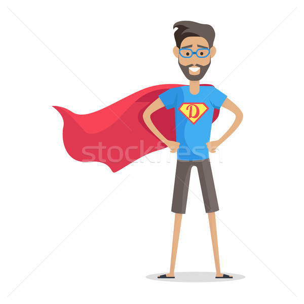 Superhero Daddy in Superhero Costume Stock photo © robuart