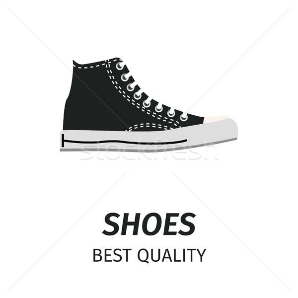 Best Quality Black Shoes Isolated Illustration Stock photo © robuart