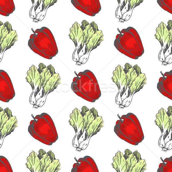 甘い 唐辛子 中国語 キャベツ 赤 ストックフォト © robuart