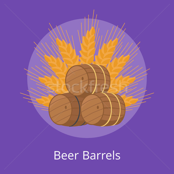 Three Beer Barrels of Different Types and Ears Stock photo © robuart