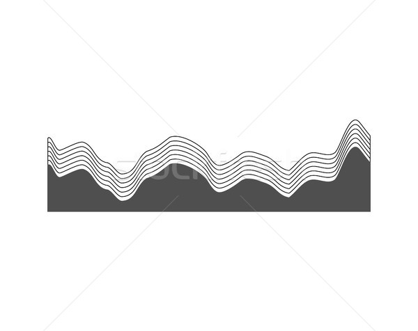 Grey Chart with Curved Lines Vector Illustration Stock photo © robuart