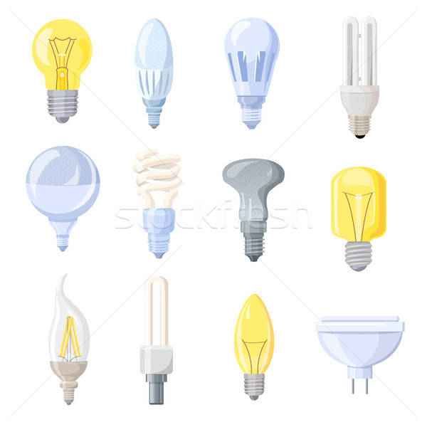 Collection of Different Bulbs Vector Illustration Stock photo © robuart