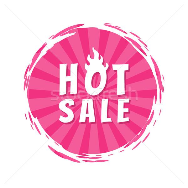 Forró vásár felirat rózsaszín festék folt Stock fotó © robuart