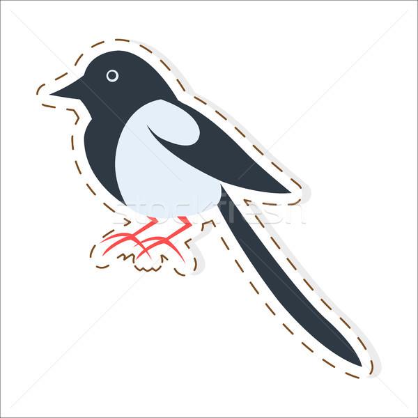 Cute cartoon vector sticker icon grappig Stockfoto © robuart