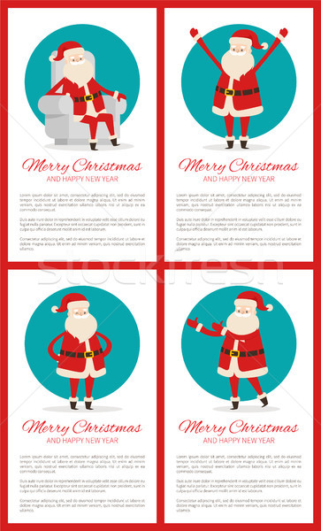 Merry Christmas Winking Santa Vector Illustration Stock photo © robuart