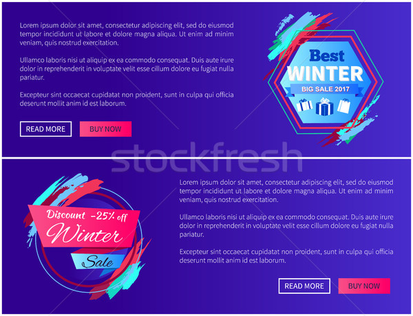 Best Winter Sale Web Pages Vector Illustration Stock photo © robuart