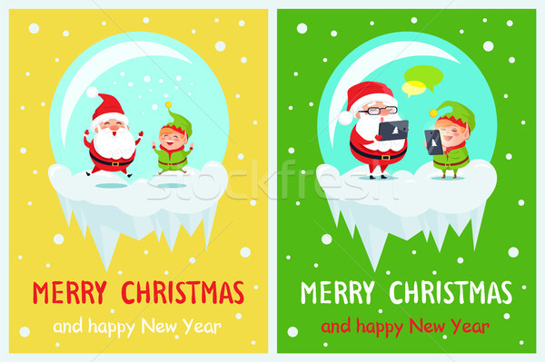 Merry Christmas Delight Santa Vector Illustration Stock photo © robuart