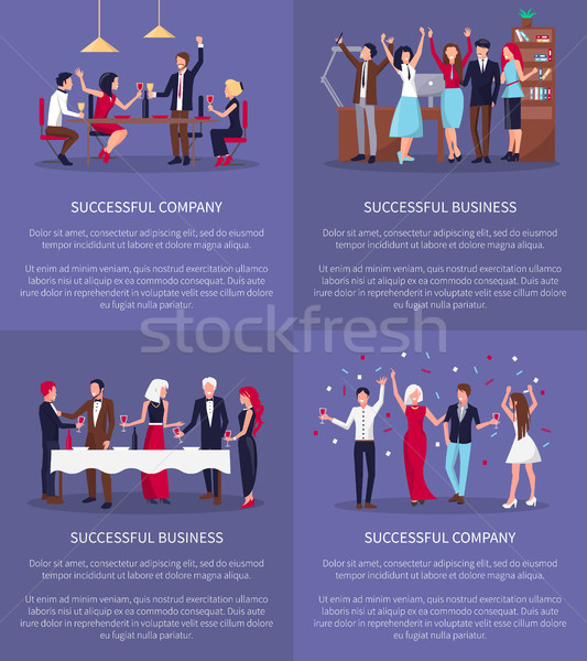 Successful Company, Business Vector Illustration Stock photo © robuart