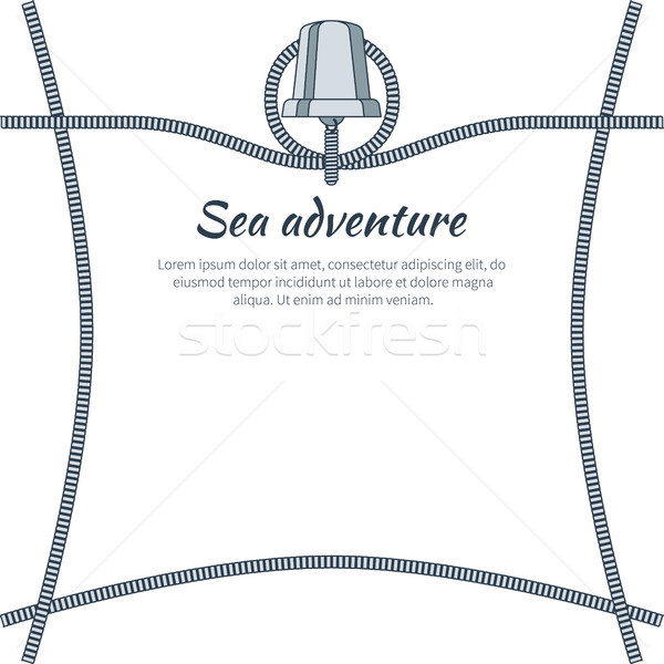Sea Adventure Banner and Text Vector Illustration Stock photo © robuart