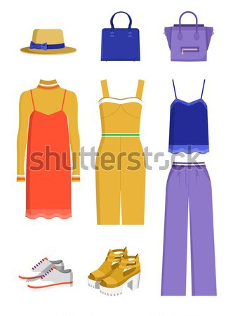 Summer Mode Jacket and Skirt Vector Illustration Stock photo © robuart