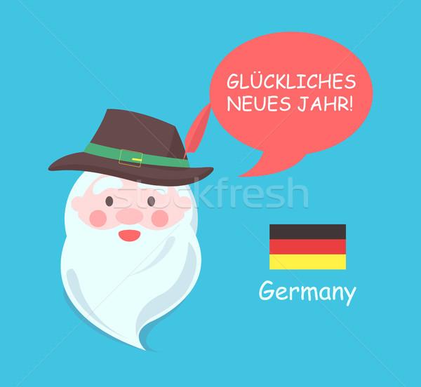 ドイツ サンタクロース ポスター 翻訳 明けましておめでとうございます フレーズ ストックフォト © robuart