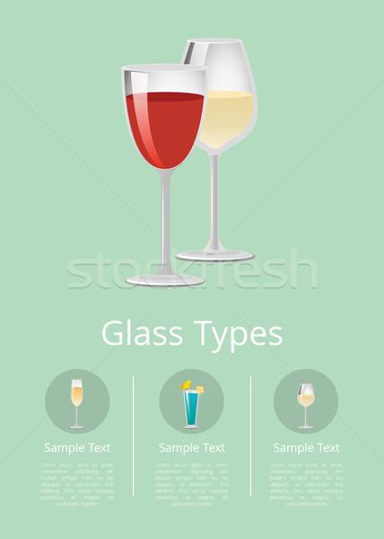 üveg hirdetés poszter üvegáru ikon különböző Stock fotó © robuart